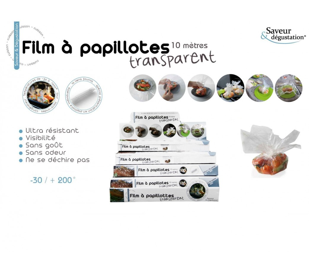 Film a papillote transparent