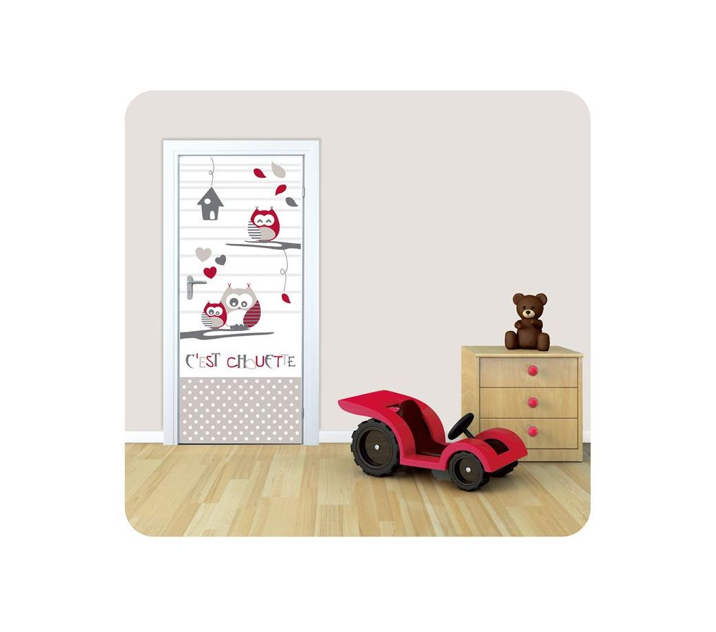 sticker de porte enfant pas cher tom et zoe la pieuvre. Black Bedroom Furniture Sets. Home Design Ideas