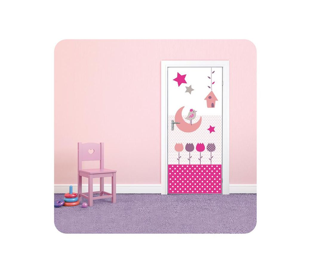 sticker de porte enfant pas cher tom et zoe la pieuvre qui rit. Black Bedroom Furniture Sets. Home Design Ideas